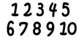Cijfer sticker, lettertype Guus