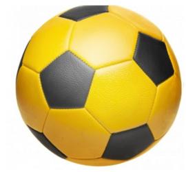 Voetbal geel met naam