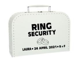Koffer Ring Security met gegevens