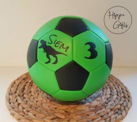 Voetbal groen met naam