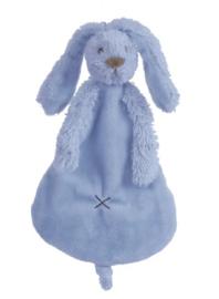 Happy Horse Rabbit Richie konijn deep blue knuffeldoekje met of zonder naam