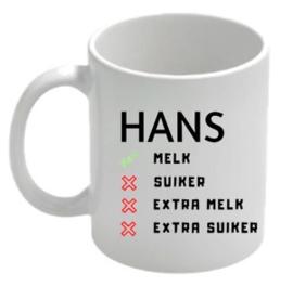 Mok melk suiker?