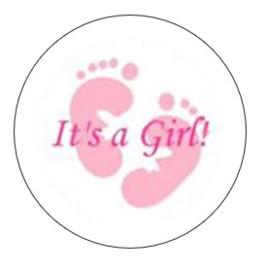 It's a girl sticker 20 stuks
