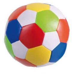 Zachte voetbal klein gekleurd met naam