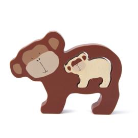 Houten babypuzzel - Mr. Monkey - Trixie