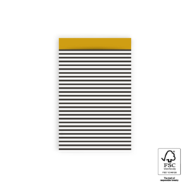 5x Cadeauzakje | Stripes Black - S