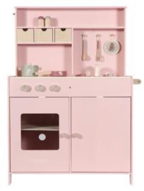 Speelkeuken roze met of zonder naam
