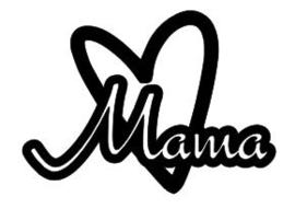 Strijkapplicatie - Mama hartje