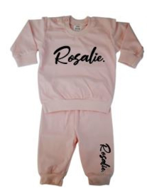 Pyjama roze - diverse opdruk