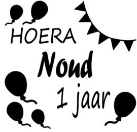 Sticker HOERA JARIG