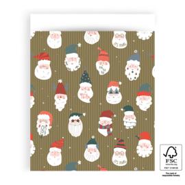 5x Cadeauzakje | Kerstman - L