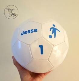 Voetbal wit met naam