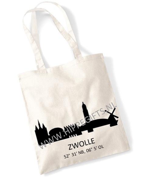 Katoenen tas Zwolle Skyline 2