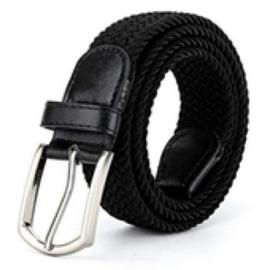 Broeksriem stretch zwart 80cm
