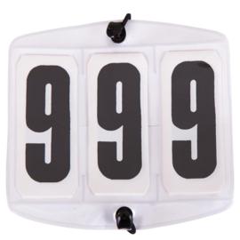 Startnummer rechthoek