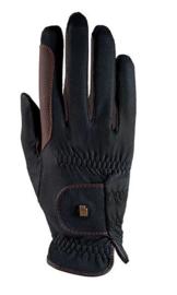 Handschoen Roeckl grip zwart/bruin