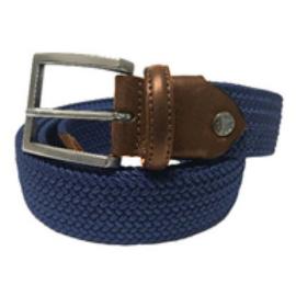 Broeksriem stretch blauw 80cm