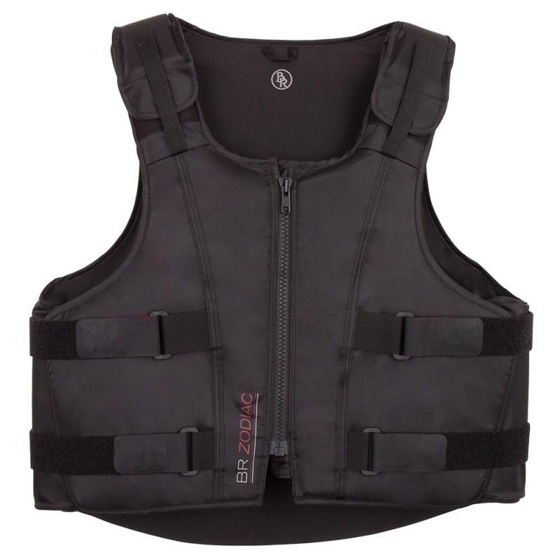 Bodyprotector Zodiac zwart volwassen