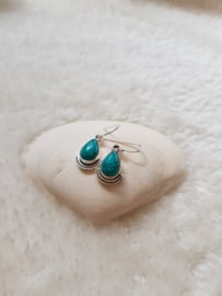 Turquoise Oorbellen Vedra