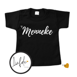 T-Shirt Zwart - Korte mouw - 't Menneke