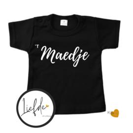 T-Shirt  Zwart - Korte mouw - 't Maedje