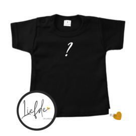 T-Shirt Zwart - Korte mouw - (Eigen woord)