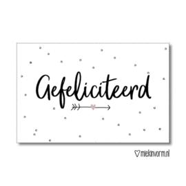 Gefeliciteerd | Kadolabel