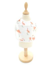 Slabbetje - Bamboe Flamingo