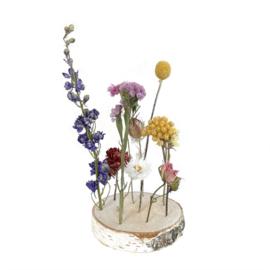 Wood & Dried Flowers