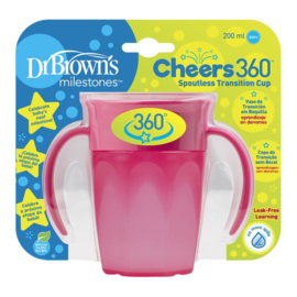 Drinkbeker - Cheers 360 Roze (Dr Brown)