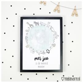 Poster - Met jou is de wereld mooier | Poster 30x40
