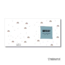 Hoera een Jongen || Dubbelgevouwen kaart met envelop