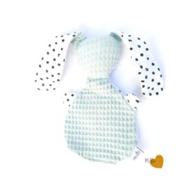 Knijntje -  Monochrome dots & poedergroen