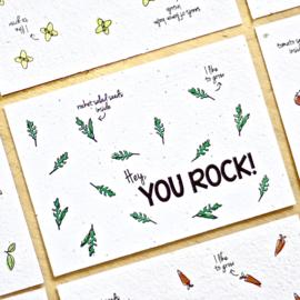 Bloom Kaart 'You Rock!' (raketsla)
