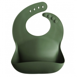 Mushie Silicone slab Forrest Green