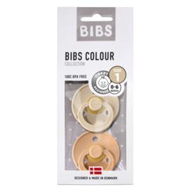 BIBS Blister Vanilla/Peach T1