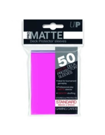 Ultra Pro - Standard Sleeves - Pro-Matte - Non Glare - Bright Pink (50 Sleeves)