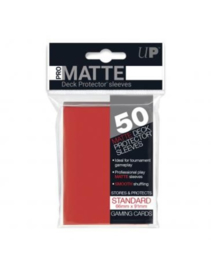 Ultra Pro - Standard Sleeves - Pro-Matte - Non Glare - Red (50 Sleeves)