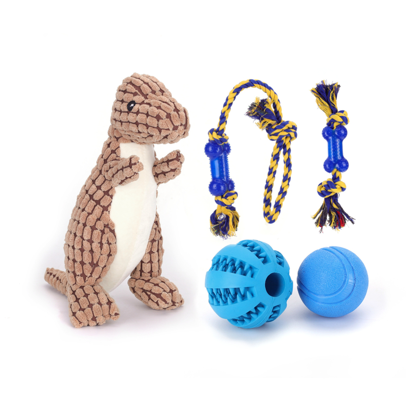 Speelgoedset voor de hond (5 stuks)