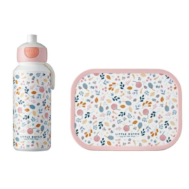 Lunchset Campus (pop-up + lunchbox) – spring flowers
