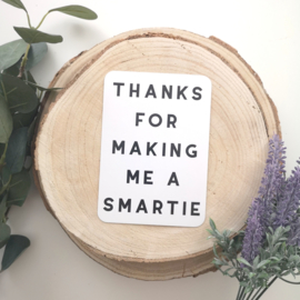 StippelZ Kaart Thanks for making me a smartie