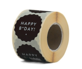 Etiketten Happy B-day – Black