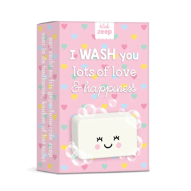 I WASH you lots of love & happiness (hartjes)