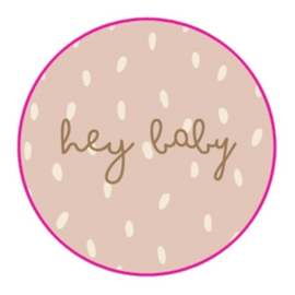 Stickers Hey Baby Blush