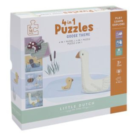 Little Dutch 4 in 1 puzzel gans