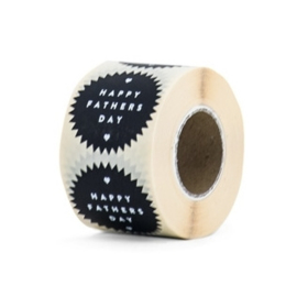 Stickers Happy Fathers Day Black