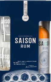 Rum Saison 42%  Gift Box met Glazen