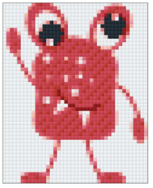 PIXELHOBBY MONSTERROOD - 1PLAAT - 23MATJES