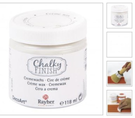 CHALKY FINISH CREME WAX CLEAR 236ML RAYHER