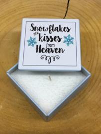 BLIK KAARS SNOWFLAKES ARE KISSES FROM HEAVEN